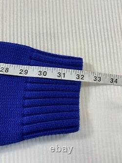 Polo Ralph Lauren Tiger Varsity Letterman Knit Crewneck Sweater Blue NWT Mens L