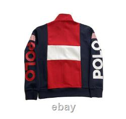Polo Ralph Lauren USA Spell Out Colorblock Double Knit 1/4 Zip Tracksuit Mens XL