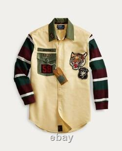 Polo Ralph Lauren Upcycle Rugby Oxford Shirt. RARE! 12/33 (NWT)