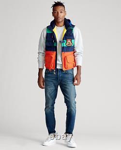 Polo Ralph Lauren Vtg Colorblocked Jacket Vest Hi Tech Stadium Snow Beach Pwing