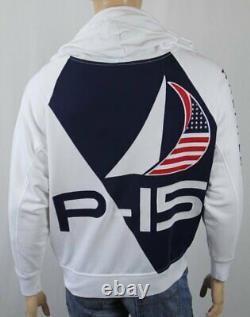 Polo Ralph Lauren White Offshore Sailing P-15 Fleece Sweatshirt NWT $189
