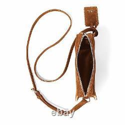 Polo Ralph Lauren Womens Leather Suede Bohemian Boho Shoulder Crossbody Bag New