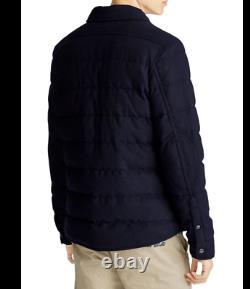 Polo Ralph Lauren Wool 750 Down Quilted Shirt Jacket Gentleman Royal Preppy Men