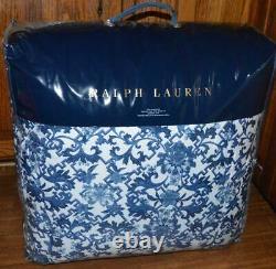 RALPH LAUREN Dorsey Porcelain Inspired Vibrant Blue KING COMFORTER NEW