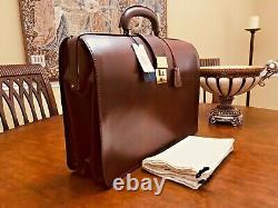 RALPH LAUREN English Havana Bridle Leather Briefcase / Lawyer Bag / Doctor Bag