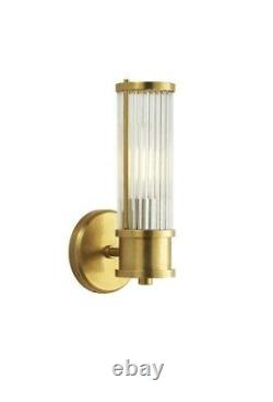 Ralph Lauren Allen Single Sconce In Natural Brass And Glass Rods Elegant Look