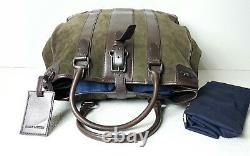 Ralph Lauren Black Label Gents Leather Suede Travel Olive/brown UNISEX Tote Bag