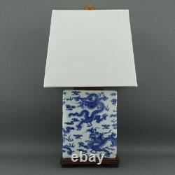 Ralph Lauren Chinese Dragon Porcelain Traditional Meredith Table Lamp AM24