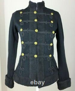 Ralph Lauren Denim Supply Military Army Officer Commander Shearling Band Jacket