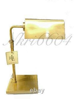Ralph Lauren Lamp Modern Agatha O Banker Pharmacy Desk Table Gold Golden Bronze