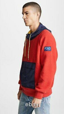 Ralph Lauren Polo CP-93 Stadium HI Tech Fleece Jacket Hoodie Pullover L NWT