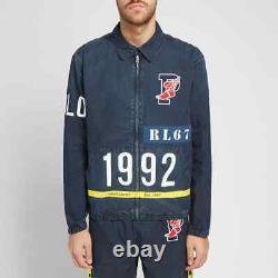 Ralph Lauren Polo Indigo Stadium 1992 Jacket Snowbeach USA Pwing Men's Large NEW