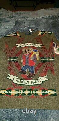 Ralph Lauren Polo National Park Bear sweater xl