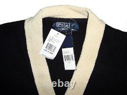 Ralph Lauren Polo P Wing Cardigan Sweater XL NWT Rare Vintage Varsity Letterman