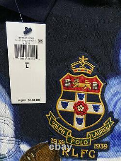 Ralph Lauren Polo Shirt Custom Slim Fit Rugby St. Andrews Teddy Bear Mens L RARE