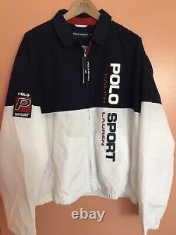 Ralph Lauren Polo Sport Spell Out Color Block Windbreaker Jacket XL Stadium