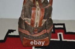 Ralph Lauren RRL Indian Beacon Leather Trim Duffle Weekender Bag