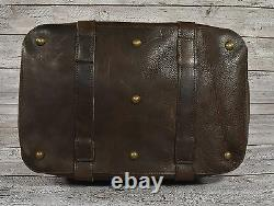 Ralph Lauren RRL Vintage Leather Wool Indian Blanket Serape Overnight Bag New