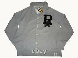 Ralph Lauren Rugby Shawl Collar Fleece Cardigan XL (Extra Large) Grey Sweater