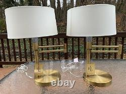 Ralph Lauren Swing Arm Polished Brass Gold Table Desk Accent Home Office Lamp