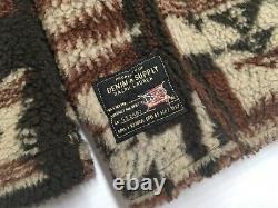 VTG Denim Supply Ralph Lauren Sherpa Southwestern Aztec Navajo Jacket Coat L Men