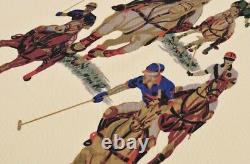 Vintage Polo Ralph Lauren Equestrian Five Horse Man Rugby USA Cookie Indian L