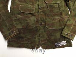 Vtg Polo Ralph Lauren Name Tag Military Army Camo Soldier Field Combat Jacket S